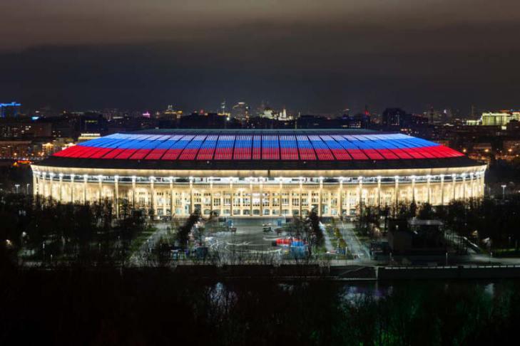 La iluminación del Mundial de Rusia 2018